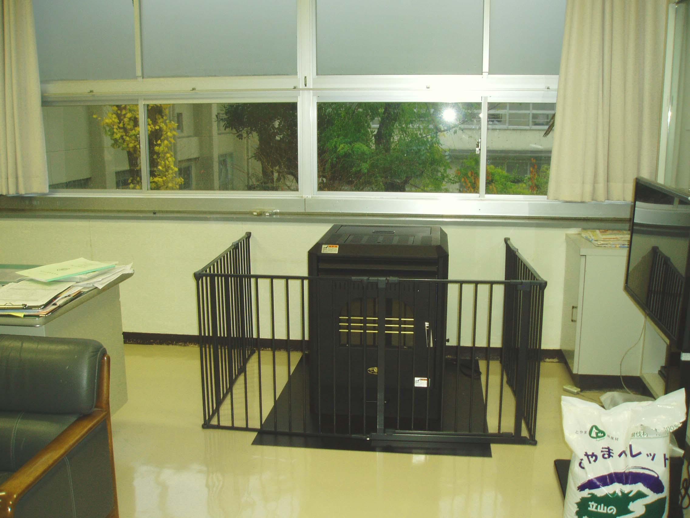菊川小学校様 校長室にペレットストーブを設置しました