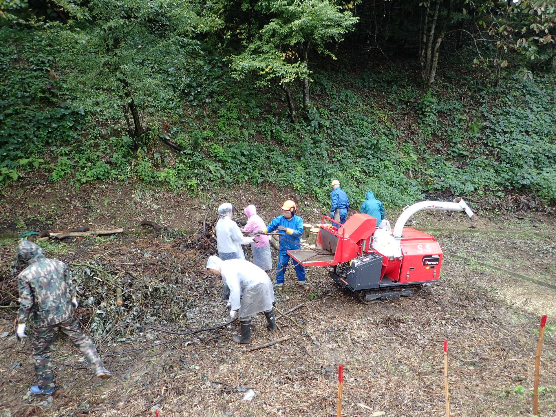金沢大学角間の里 伐採木処理作業2
